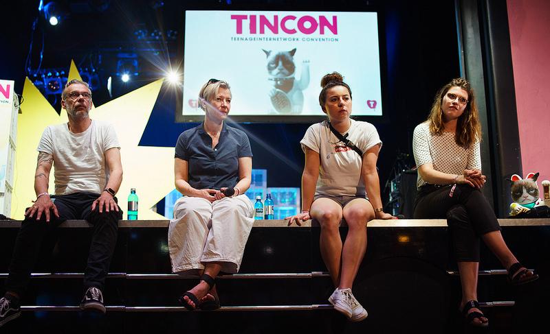 Tanja und Johnny Hauesler, Sheherazade Becker und Linda Dudacy auf der TINCON Berlin 2018