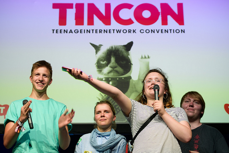 Mitglieder des U21-Teams auf der TINCON Berlin 2018