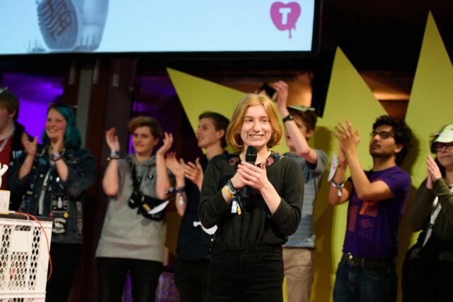 Leyla Sünnenwold auf der TINCON Berlin 2019